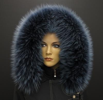 Zahalte se do této luxusní kožešiny - tmavě modrý mývalovec pro vaši kapuci #kozesina#fur