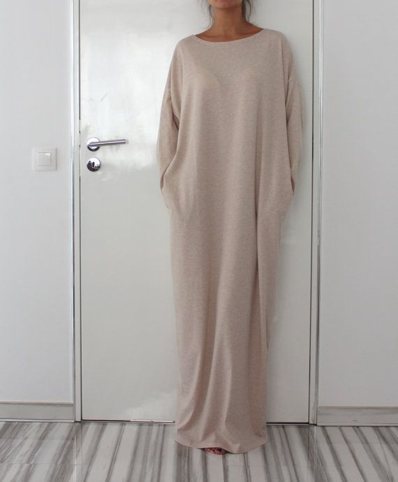 Light Beige oversized plus size elastic by cherryblossomsdress. For Dubai.