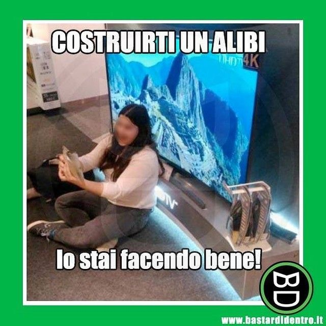 Hai detto a tutti di essere fuori città? #bastardidentro #alibi #vacanza www.bastardidentro.it
