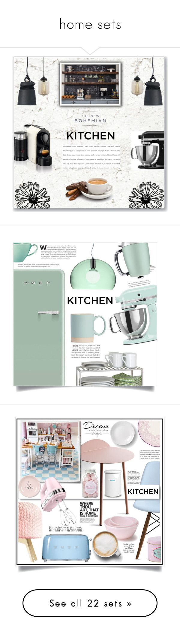 """home sets"" by foxdesigner ❤ liked on Polyvore featuring interior, interiors, interior design, home, home decor, interior decorating, KitchenAid, Nespresso, American Eagle Outfitters and kitchen"