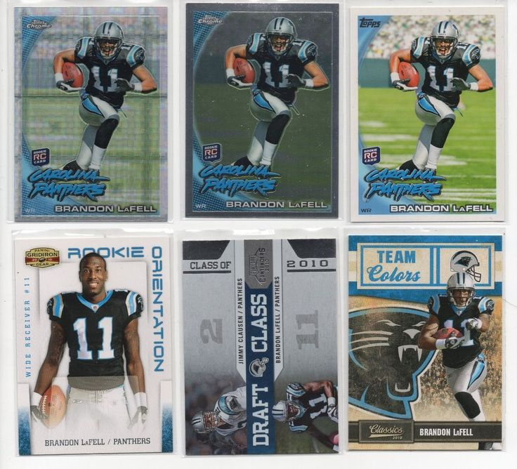 Brandon LaFell 2010 Nfl Rookie year Panthers Patriots 12 Card Lot #NewEnglandPatriots