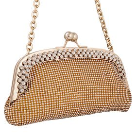 Buy Arcad Small Clutch Bag For Women, E29734, Gold at 89 AED - AWOK Online Store