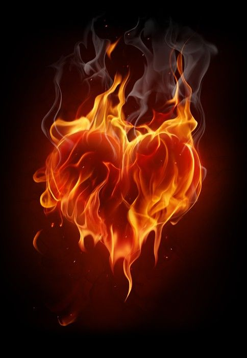 Flaming Heart Wall Mural Pixers We Live To Change Fire Heart Twin Flame Art Fire Photography