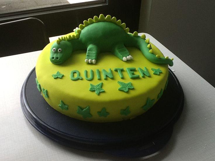 Verjaardagstaart van een draak voor Quinten
