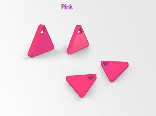 Thosdt® 1 Pcs Smart Triangle Tag Bluetooth Tracker Child Bag Wallet Burglar Alarm Key Finder GPS Locator Alarm Wireless Lost Self Timer (Pink)