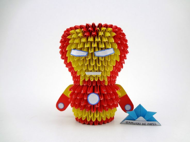 how to make origami iron man mask
