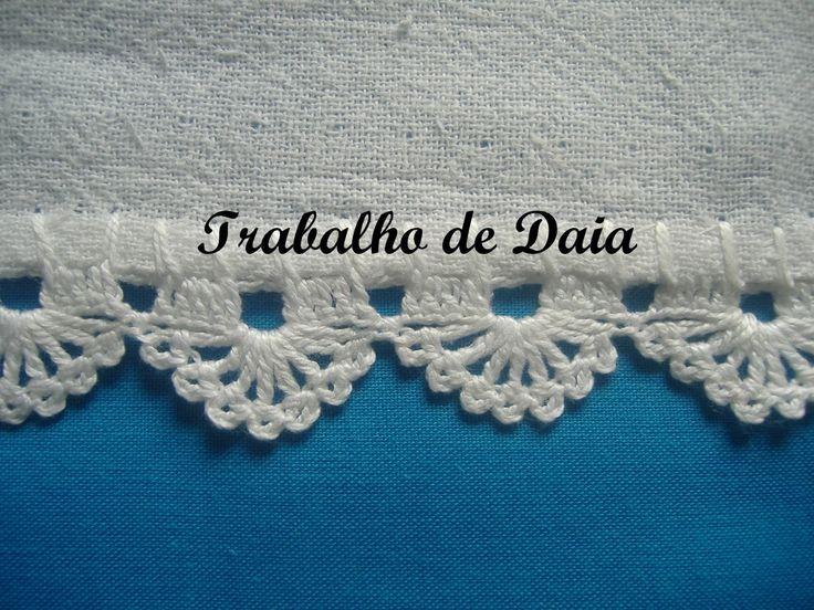 Φωτογραφία: Trabalho nº 13. Pano de prato com bico de crochê.