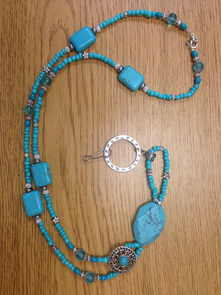 A personal favorite from my Etsy shop https://www.etsy.com/listing/248993329/turquoise-lanyard-badge-holder-beaded