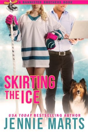 "Skirting the Ice Bannister Brothers #3  By: Jennie Marts  Releasing December 8, 2016 Self-Published  ""The Bannister Brothers series has everything I love...hockey, humor, and  heart!"" - Kristin Miller- New York Times Bestselling author  Buttoned-up accountant Jack Bannister lives an uncomplicated life until his  teenage crush moves back into the house next door…all grown up and sexy as  hell. Murphy Ryan is still wild and reckless, and danger has followed her  to Colorado.  Jack wil..."
