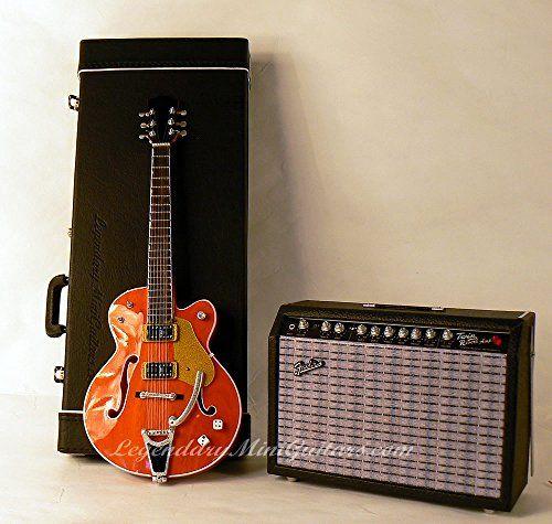 Mini Fender Twin-Reverb Amp + Rockabilly Guitar with FREE Mini Guitar Case
