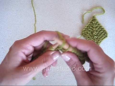 Domino knit - qué bien explicado