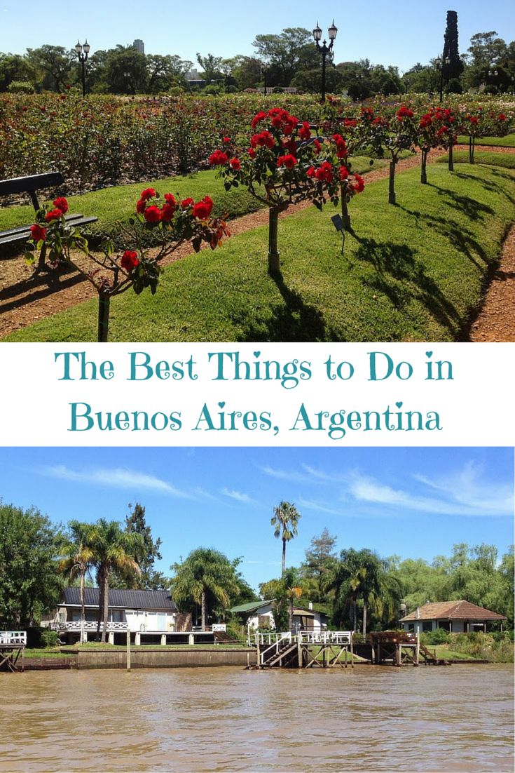 Find out the best things to do in Buenos Aires Argentina, from going on a river cruise to finding  the perfect rose garden!