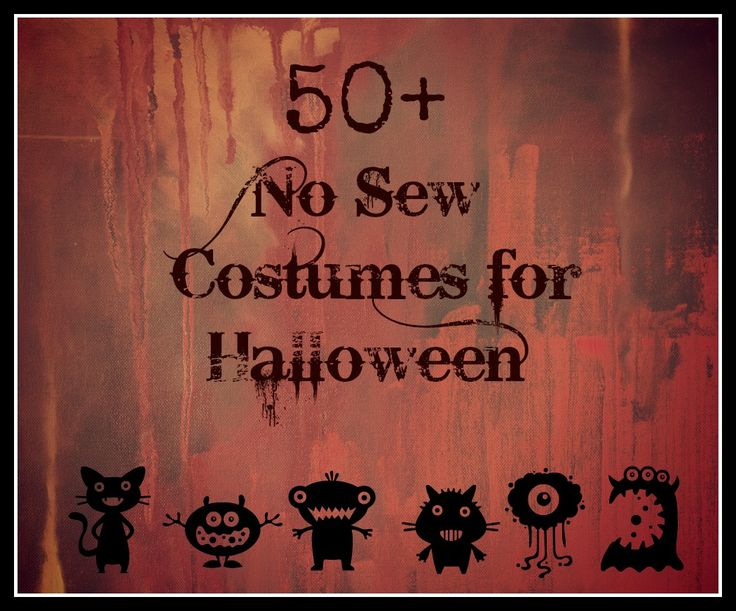 50 no-sew costumes for halloween