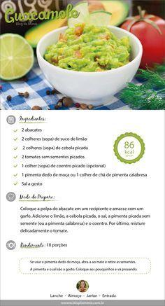Arriba! Quem aí ama comida mexicana? Sabiam que a guacamole é super saudável? As gorduras boas são excelentes para a saúde como já falei nesse POST, e o abacate tá cheio delas! A guacamole é uma ót…