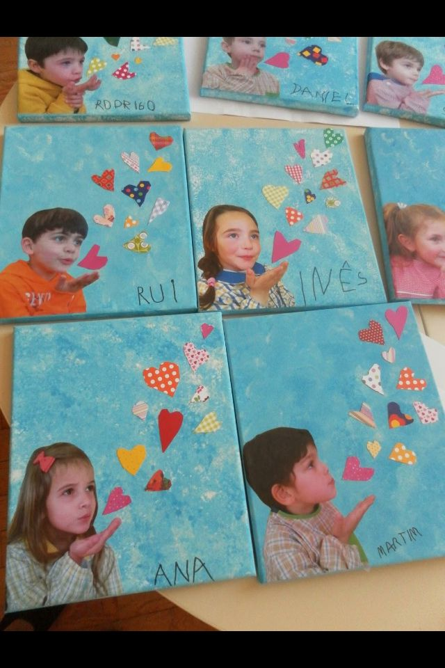 Blowing kisses! Makes a sweet Valentine's Day card or writing prompt!