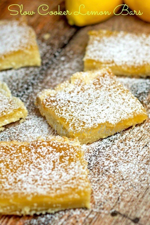 These delightful lemon bars. | 19 Delicious Desserts You Can Make In Your Slow Cooker
