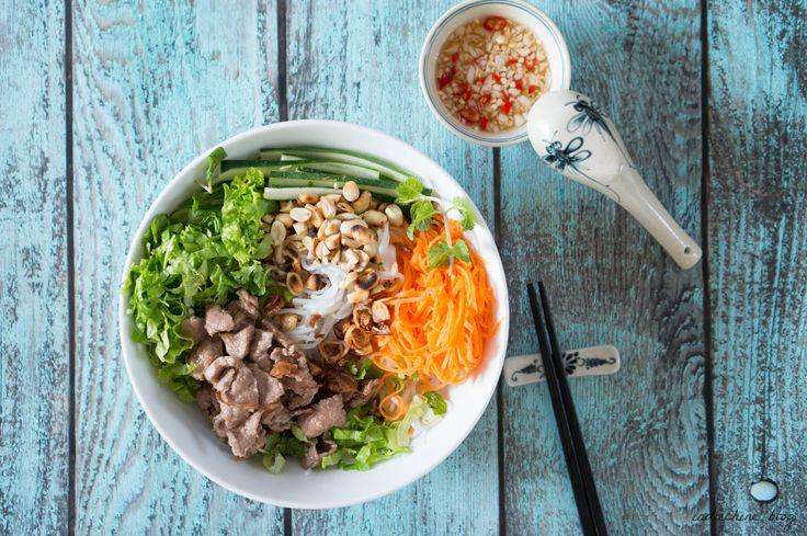 Vietnamese Sautéed Beef Vermicelli - Bún Bò Nam Bộ (Bún Bò Xào)