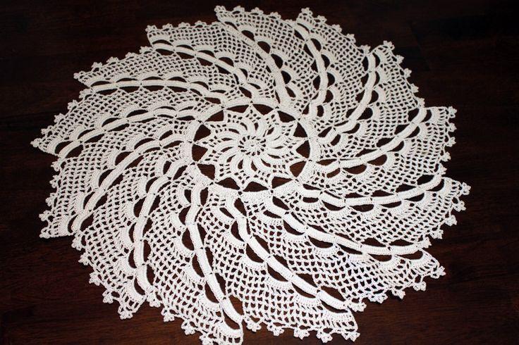 Patron tapete rectangular tejido a crochet a punto pi a - Esquema punto estrella crochet ...