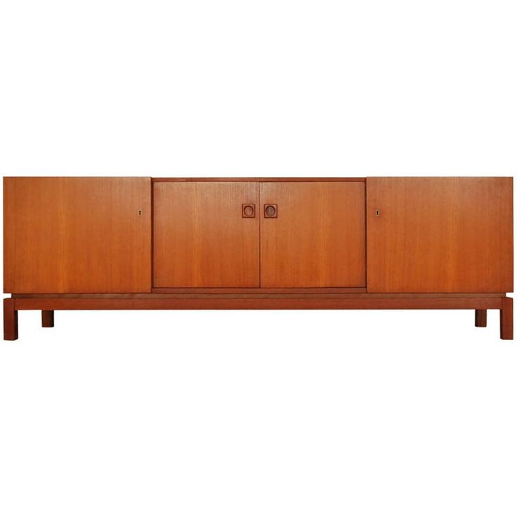 Dutch cabinet/credenza in teak from Mahjongg | From a unique collection of antique and modern credenzas at https://www.1stdibs.com/furniture/storage-case-pieces/credenzas/