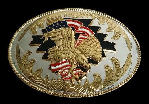 Golden Eagles American Flag Men's Western Belt Buckles #eagle #eagles #eaglebuckle #eaglebeltbuckle #flyingeagle #baldeagle #americaneagle #beltbuckles #coolbuckles #buckle