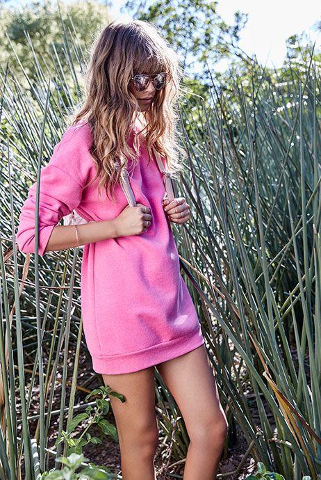 Primark womenswear pink sweatshirt dress