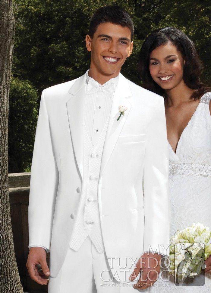 White 'Troy' Tuxedo | Tuxedos & Suits | MyTuxedoCatalog.com