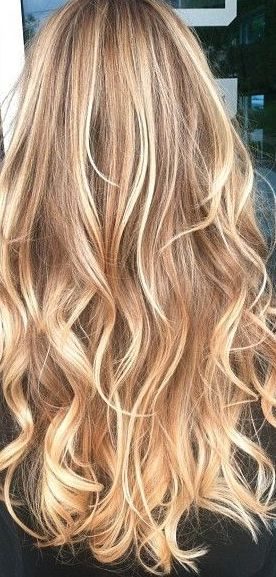 Seeking dye inspiration?  You can't do better than this mix of buttery blonde shades.  Hair this color will look downright gorgeous no matter how you style it.  You can't possibly look more glam.  But if you need more ideas you could always jump over to TerrificTresses.com