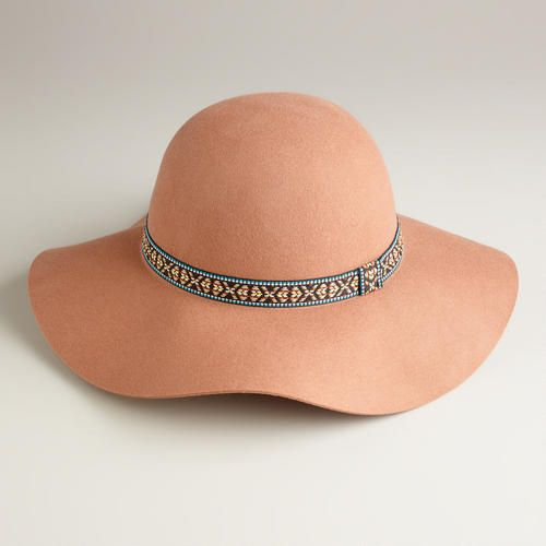 One of my favorite discoveries at WorldMarket.com: Tan Floppy with Jacquard Band Hat