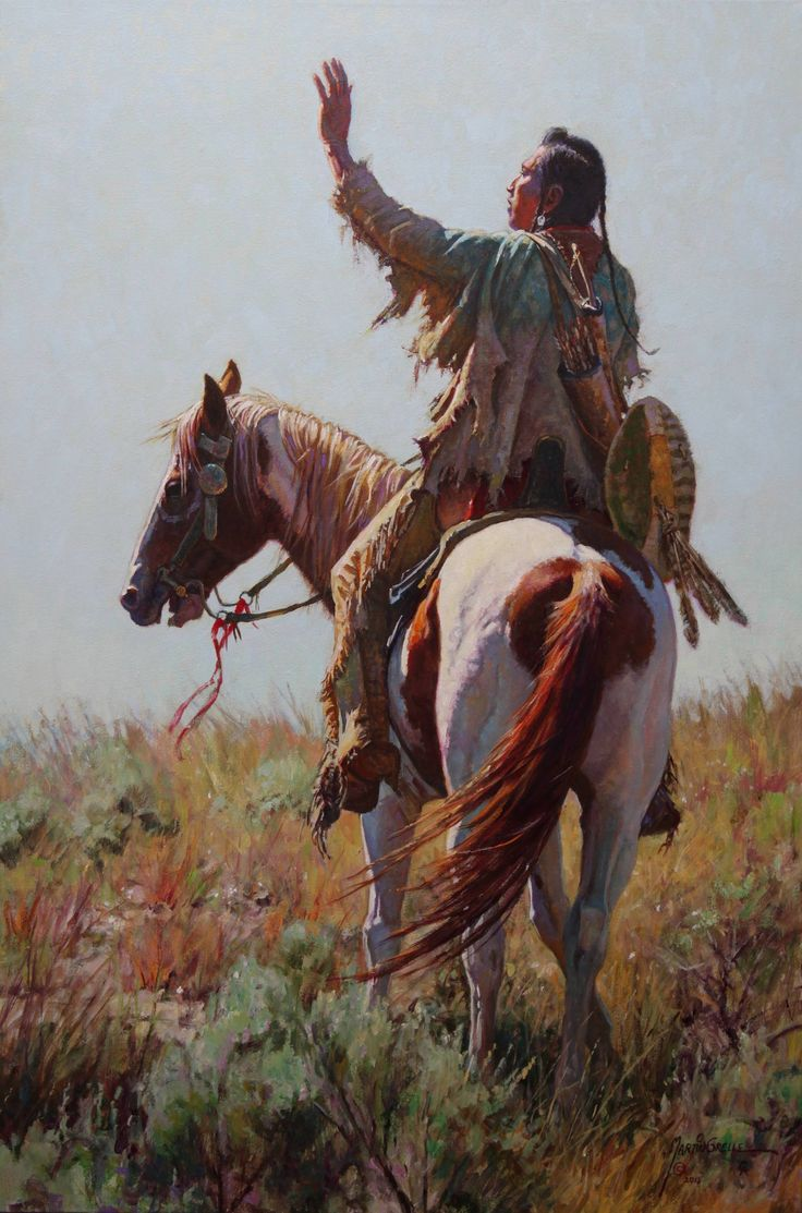 Prayer To First Maker Martin Grelle Kk  Native American -8482