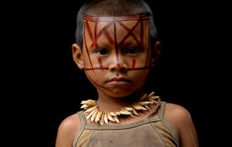 The Nukak live between the Guaviare and Inírida rivers in south-east Colombia.    They are one of six groups known as the 'Maku' peoples, all nomadic hunter-gatherers living in the headwaters of the northwest Amazon basin.