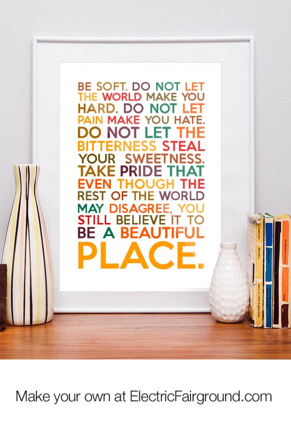 Enjoy life! Live, love, laugh. Vonnegut #quote #beauty