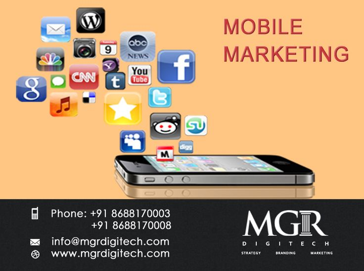 Mobile Marketing : Let your customers connect with you instantly right from their cell phones and return to your   business. MGR DIGITECH Provides Services for Mobile Marketing .For Further details please contact us: Contact Details: Phone: +91 8688170003, +91 8688170008 Email-Id : info@mgrdigitech.com Website :www.mgrdigitech.com  #MGR, #MGRDigitech, #Digital, #OnlineSales, #DigitalSolutions,  #MobileMarketing