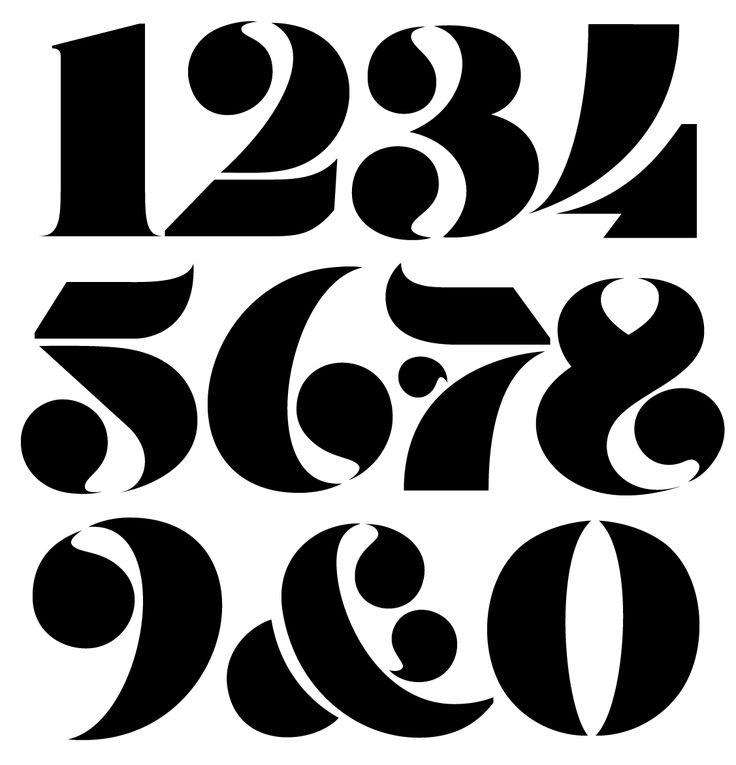 Stencil Numerals by @andreirobu (Andrei Robu www.robu.co)