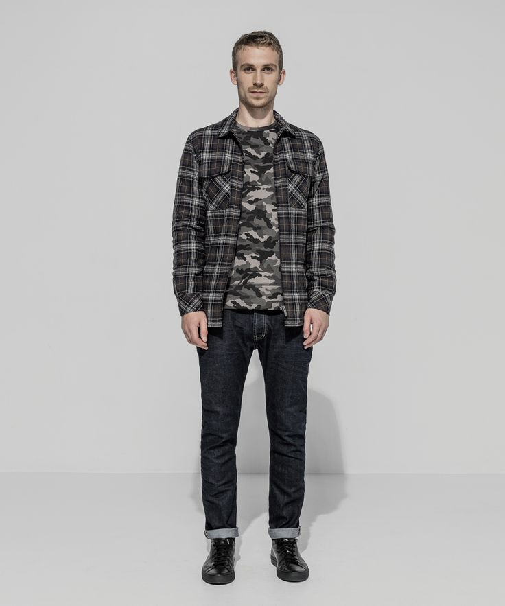 Wool Blend Bush Flannel Zip Workshirt (Black) Camo Loopback Sweatshirt (Charcoal) 13.5oz Classic Ringspun Straight Leg (Dark Indigo - Dark Whisker)