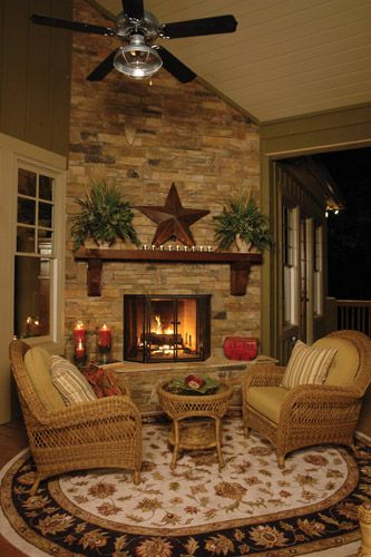 love the style of living room, must be a Texas home