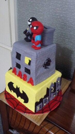 Aasa's 4th superhero cake