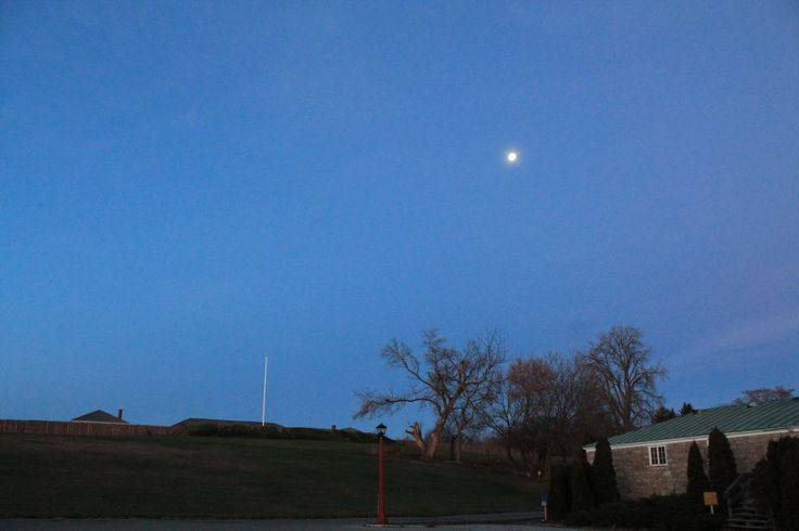 Moon over Fort George in Niagara on the Lake