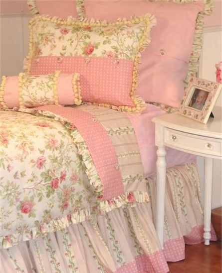 Stephanie Anne Bed Linens by Little Bunny Blue - RosenberryRooms.com