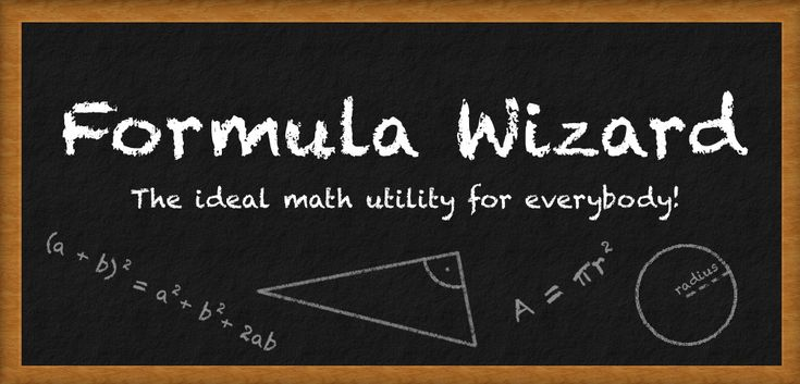 Free Amazon Android App of the day for 7/29/2014 only! Normally $0.99 but for today it is FREE!! Math Formula Wizard   Product Features Area calculator Volume calculator Quadratic Formula Distance Formula for points in a Cartesian coordinate system Binomial Theorem for exponents of 2 and 3 Perimeter, Slope, Midpoint calculator Pythagoras calculator Custom calculator for any formula you can imagine Voice calculator