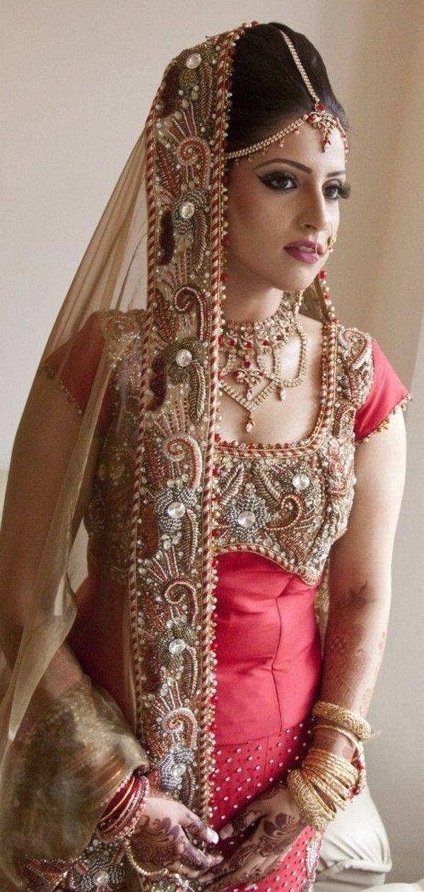 pink bridal lehenga with a long top #indian bride,