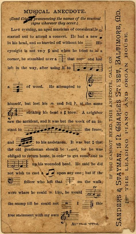 **FREE ViNTaGE DiGiTaL STaMPS**: Vintage Printable - Music Ephemera