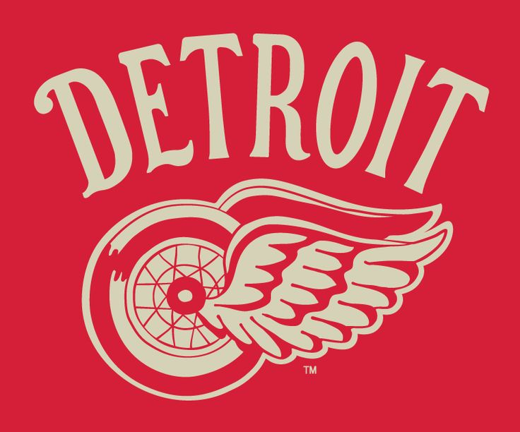 Detroit Red Wings Event Logo (2014) - Detroit Red Wings 2014 Winter Classic vintage style fauxback jersey crest and promotional logo
