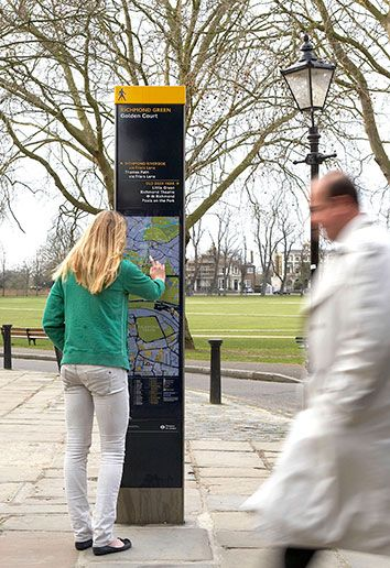Design firms AIG and City ID teamed up to produce the superb Legible London wayfinding system. Click image for details and visit the slowottawa.ca boards >> http://www.pinterest.com/slowottawa/