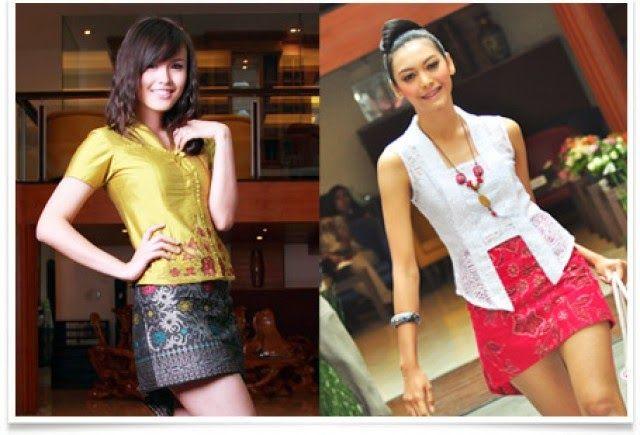 kebaya casual rok mini