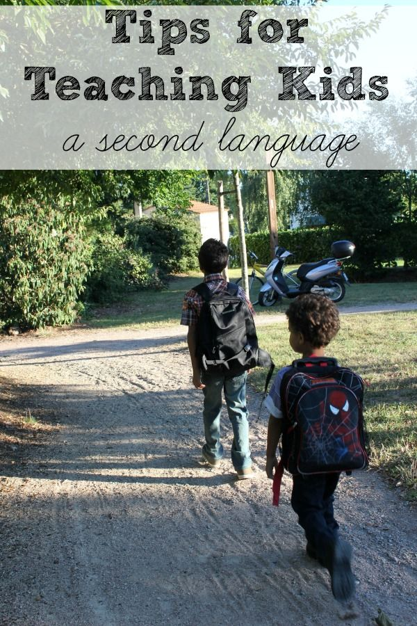 Tips for Teaching Kids a Second Language