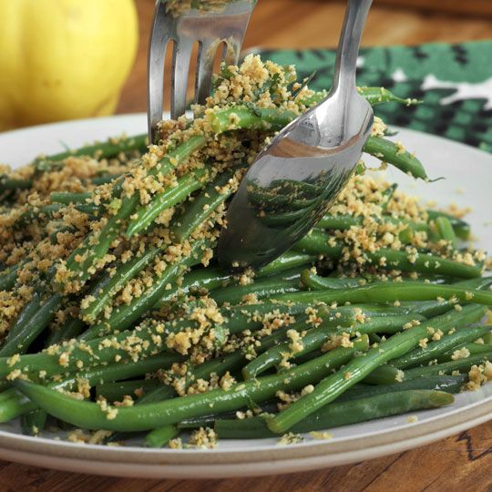 Lemony green beans with almond bread crumbs @ thekitchn.com. This is a ...