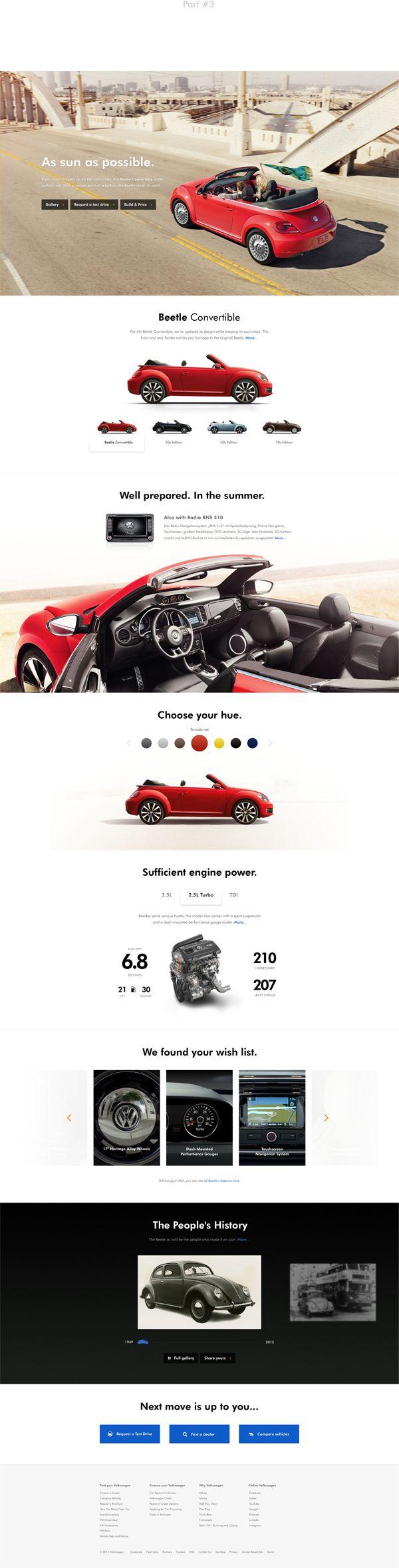 Volkswagen Website Redesign on Web Design Served
