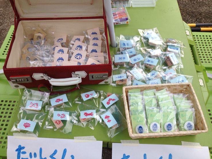竹内街道灯路祭りでの物販の様子。