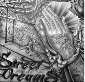 Chicano Art Tattoos | for the art was for cultural pride and was made during the Chicano ...