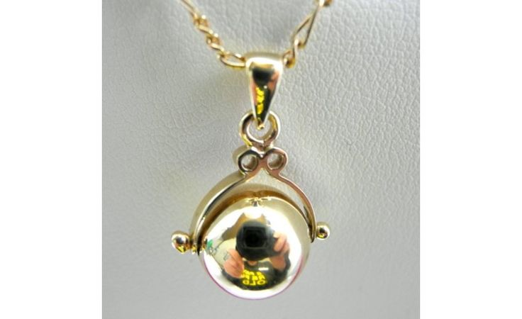 9ct Yellow Gold Chain With Spinning Ball Pendant